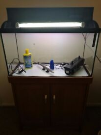 125L FISH TANK WITH CABINET