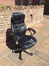 TecTake office chair with double cushion
