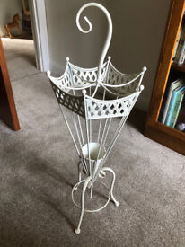Attractive ivory metal umbrella stand