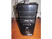 Dell XPS 420 PC with monitor, cordless keyboard, mouse + webcam, wireless network adapter & speakers