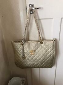 Large new quilted 2 bags in one shoulder bag