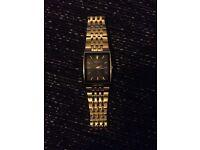 Accurist gold tone diamond watch
