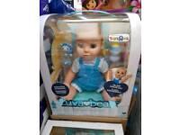 Luvabeau Boy Blue luvabella interactive Doll. Brand new