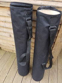 Art or poster or banner carrier with inner tubes x 2 £8 for both ono, Collection only (N12)