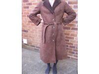 Ladies vintage sheepskin coat