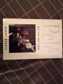 HARDBACK BOOK. PELE. HIS LIFE AND TIMES.
