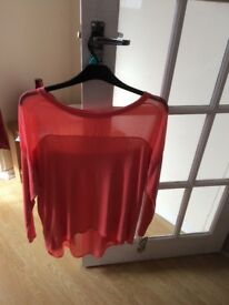 Brand new coral top with tags