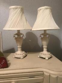 Pair Shabby Chic Lamps