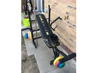 Golds weight bench and misc weights