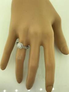 14kt White Gold Diamond Engagement Ring & Wedding Band Set 0.65ct