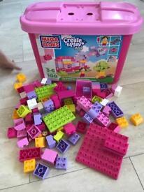 Pink mega bloks blox