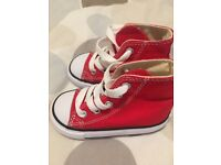 Red infant converse size 5 trainers