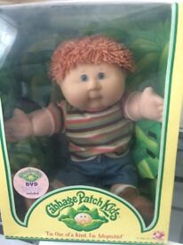 cabbage patch doll, boy new boxed with birth cert