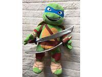 Build A Bear Teenage Mutant Ninja Turtle Leonardo bear / soft toy - immaculate