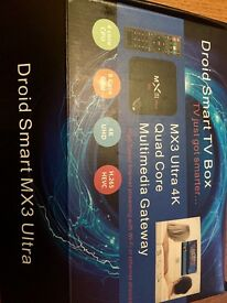 Android MX3 ultra 4K tv box