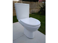 Close coupled toilet with seat, new from CERSANIT, very good quality