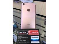 iPHONE 7 32gb, SHOP WARRANTY & RECEIPT, ROSE GOLD, UNLOCKED