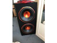 "EDGE 12"" Twin 1800w Subwoofer"