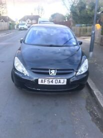 54 PLATE PEUGEOT 307 DIESEL LOW MILAGE CHEAP TAX £30 £700 ONO