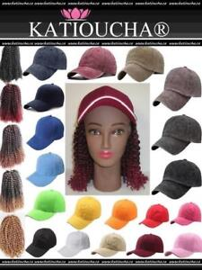 *****NEW*****Cap With Interchangeable Hair. Hair Style Marley 8'' (20.32 cm)