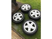 15' Renault Clio alloy wheels with tyres plus spare