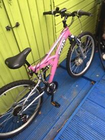 Pink ladies Trax bicycle for sale