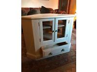 TV corner unit / cabinet cream shabby chic