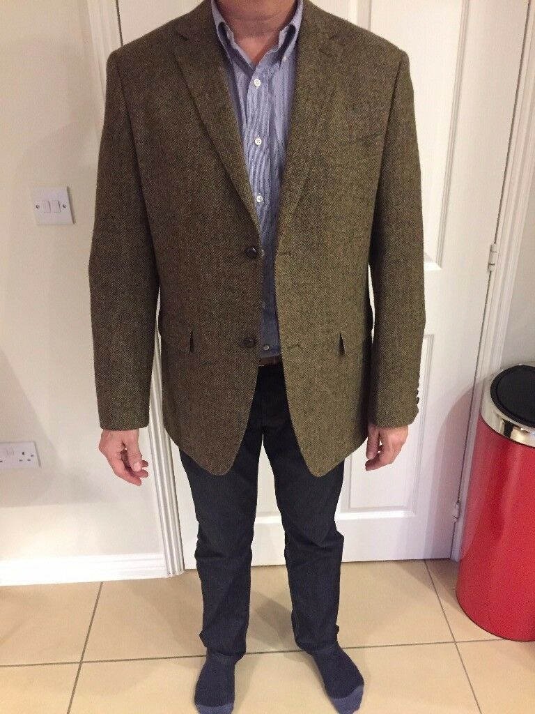 NEARLY NEW HOWICK - BROWN 100% WOOL SPORTS JACKET