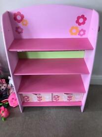 Early learning centre bookcase and shelf unit