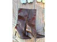 Buffalo London knee high leather boots