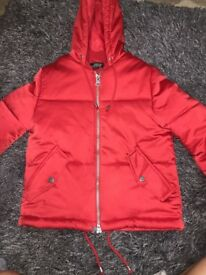 Red topshop jacket with hood