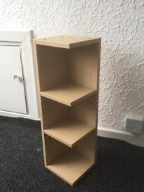 Small corner shelving unit from Ikea