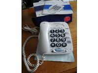 Hardly used BT Big Button Corded Telephone