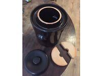 5L Fermentation Crock Jar Bucket Fermenting Pickling Kimchi Sauerkraut