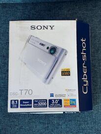 Sony Cyber-shot DSC-T70 8.1MP Digital Camera - Silver + 1GB Memory stick