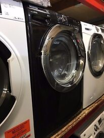 HOOVER 9KG 1600 SPIN A+++ WASHING MACHINE BLACK RECONDITIONED