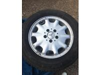 "2003 MERCEDES C200 KOMPRESSOR 15"" 4 X ALLOY WHEELS WITH MICHELIN TYRES 195/65R15"