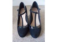 F&F Sensitive Sole Black T-Bar Shoes - Size 5