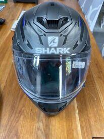 Shark motorbike helmet and gloves