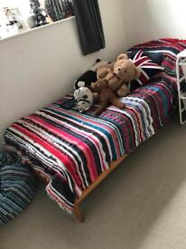Single bed - mothercare - ideal first bed - mattress not included but I can sell one for extra £