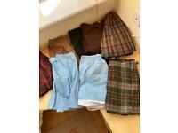 job lot vintage women's skirts and shorts 8 items pleated tartan mini denim floral