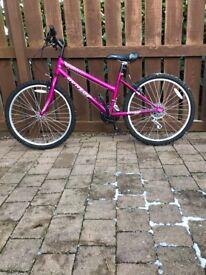 DUNLOP Girls cerise pink bicycle.