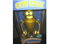 Futurama Gold Bender Coin Bank Exclusive One of Only 240 Made for San Diego Comic Con 2007 by Funko.