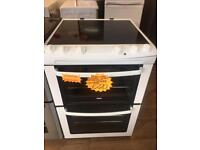 ZANUSSI 60CM GRADED CEROMIC TOP ELECTRIC COOKER