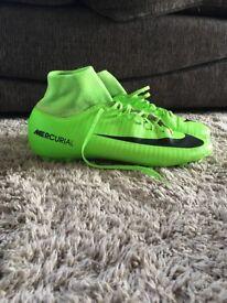 Nike Mercurial green sock football boots size 9
