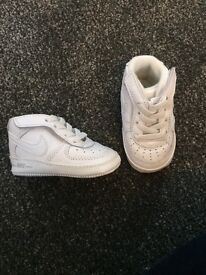 White Nike Baby Trainers 3-6months £15