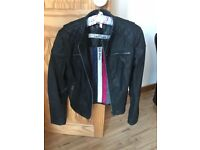 Superdry ladies leather jacket small