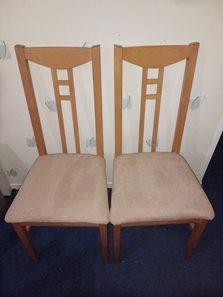 4 x Tall / High Back Dining Chairs - Solid Wood pine