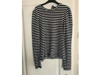 Zara black and white stripe jumper new with tags