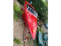 Fletcher speedboat with engine and trailer